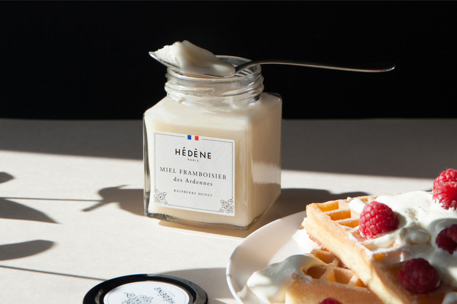 hedene-epicerie-fine-miel-luxe-france-framboisier-gaufres-cuillere