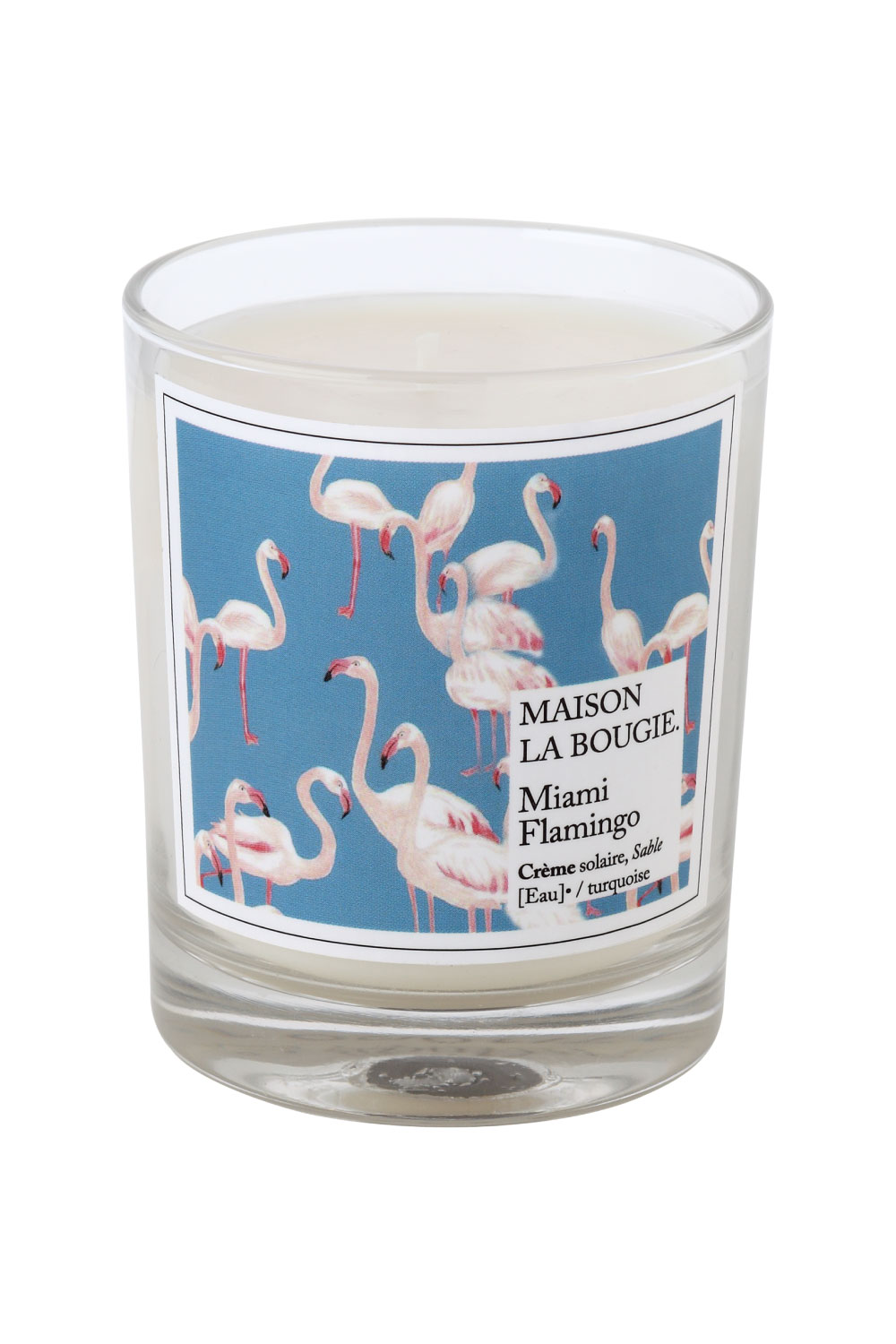 bougie parfum e miami flamingo maison la bougie sous les pav s la plage. Black Bedroom Furniture Sets. Home Design Ideas